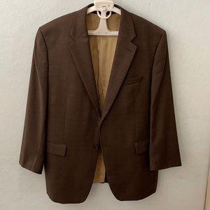 Ralph Lauren Plaid Wool 2 Button Suit Jacket